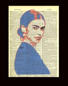 Young Frida Kahlo II (Dictionary Print) Bad Candy
