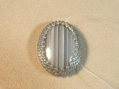 Open Backed Peyote Bezel Tutorial: Tighten the Front of the Bezel with Size 15 Seed Beads
