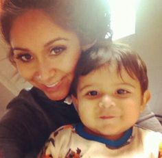 """Snooki and her son Lorenzo. I never liked """"Jersey Shore"""" and I always thought she was goofy but after she had her baby, she seems pretty cool."""