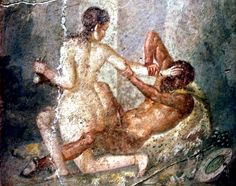 Paintings from Pompeii like this caused huge embarrassment when they were discovered by archaeologists in the 18th and 19th centuri...