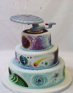 I found it:  Star Trek Wedding Cake