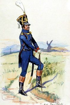 NAP- France: French 9th Foot Artillery, Officer, 1811, by E. Fort(?)