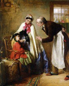 Edward Robert Hughes - PreRaphaelite  - A Visit To The Dentist