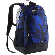 Nike Team Training 15-inch Laptop Backpack (Blue) ($70) ❤ liked on Polyvore featuring bags, backpacks, blue, nike backpack, laptop rucksack, padded laptop bag, travel rucksack and polyester backpack