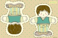 Arthur Doll fabric by woodle_doo on Spoonflower - custom fabric