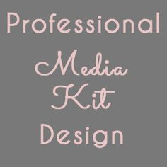 Get Ready for Blogher '13 with a Fresh New Media Kit Design | A Kay Web Design