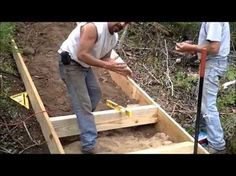 This video will show you how to install permanent steps on a hill leading from your house to a lake.