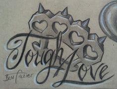 Brass knuckles tattoo flash by Ben Frazier.
