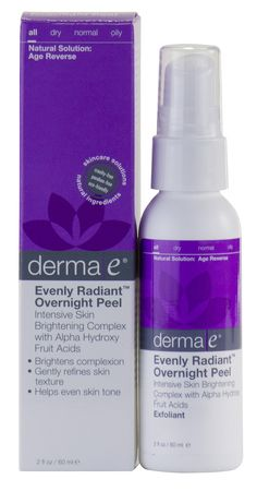 Amazon.com: Derma e Evenly Radiant Overnight Peel With Alpha Hydroxy Acids 2 Ounce (60 ml) (Pack of 2): Beauty