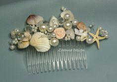 Wedding Beach Bridal Hair CombWedding SeaShell by ZhannaDesign, €27.00