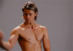 Glee Hotties: Chord Overstreet Flexing Muscles GIF