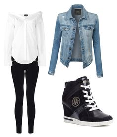 """""""Untitled #123"""" by wakawaka on Polyvore featuring LE3NO, Dorothy Perkins, Theory and Tommy Hilfiger"""