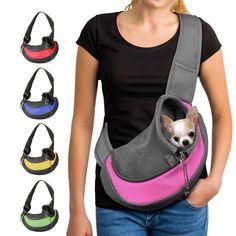 Pet Puppy Carrier S/M Outdoor Travel Dog Shoulder Bag Mesh Oxford Single Comfort Sling Handbag Tote Pouch - Puppy Carrier, Pet Carrier Bag, Sling Carrier, Pet Puppy, Dog Cat, Pet Sling, Pet Bag, Pet Carriers, Pet Accessories