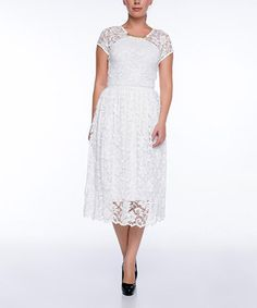 52a4c30674fe Another great find on  zulily! FX Missony Cream Lace Dress by FX Missony