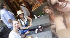 Fotografía: Mirella Fattorini con Nelida, Isabel y Matilde, tres compañeras en Italia