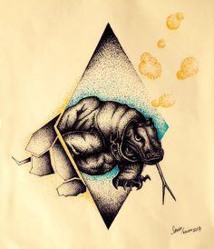#tattoo #sketch #geometric #komodo #dragon