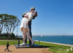 Famous Sailor Kissing Nurse - Surrender statue (San Diego, CA)  http://www.10news.com/news/-kissing-statue-to-be-moved-to-new-jersey