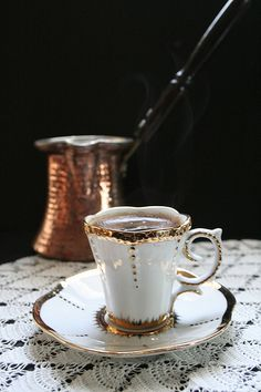 Bosnian coffee (like Turkish, only made in Bosnia :))