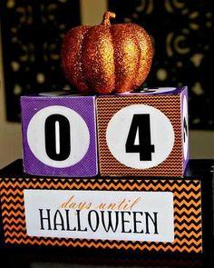 DIY Halloween: DIY Decorative Block Countdown to Halloween Craft: DIY Halloween Decor