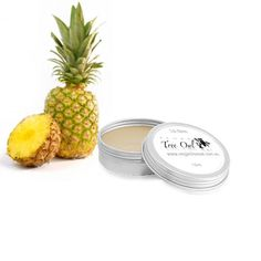 Pineapple Lip Balm by Vegan Tree Owl is Gluten Free and Vegan.
