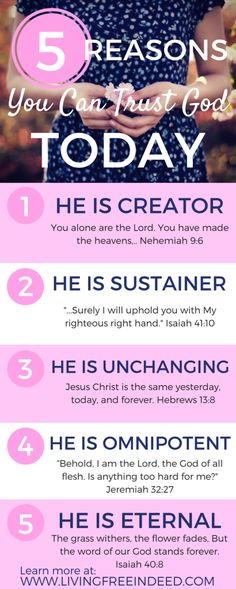 5 Fundamental Reasons You Can Trust God Today - Free Indeed | Attributes of God | Who God Is | Why God Is Good | Know God | Bible Verses About God | God's Character