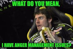 Cal Crutchlow, after losing his rag with Dani Pedrosa last week, and with Jack Miller's garage yesterday!  I do love him really though!