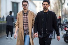 Dude on the right looking fly. Paris Fashion Week January 2015