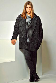Malcolm Lindberg for Trussardi              Trussardiunveiled itsFall/Winter 2015 menswear collection duringMilan Fashion Week.