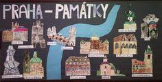 4. třída - učíme se o Praze, kreslení podle obrázků v učebnici, fotografií