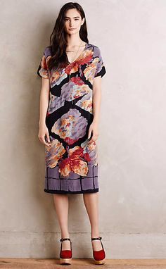 Painted Silk Shift #anthrofave