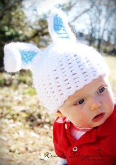Free Crochet Pattern: Bunny Hat by RAKJpatterns; Creative Crochet Patterns