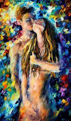 "Desire — PALETTE KNIFE Oil Painting On Canvas By Leonid Afremov - Size: 24"" x 40"" (60 cm x 100 cm)"