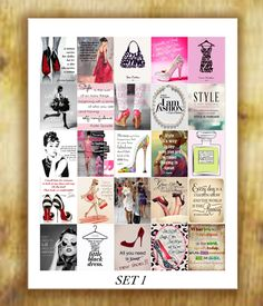 Fashion Quotes Stickers for Erin Condren Life by RemanDesignStudio
