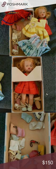 MUFFIE DILL ANTIQUE CLOTHES SHOES She's a very old doll vintage antique comes on original box, clothing and shoes all included Other