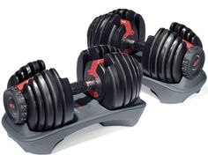 Bowflex's best product is the one that doesn't require its own room in your house -- every dumbbell you need is contained in one unit. Just put the SelectTech dumbbell handle in the base and turn a dial to adjust the weight from 5 to 52.5 pounds. If only the rest of your workout was this easy. ($359, amazon.com)   - Esquire.com