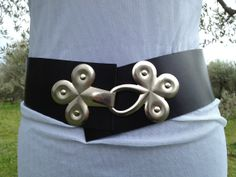 Black LEATHER BELT waist belt wide leather belt por ScandaloAlSole, €49.00