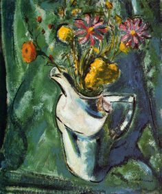 Floral Still Life Alfred Henry Maurer (1912) Private collection Painting - oil on board