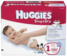 Huggies Snug & Dry Diapers, Size 1, 258-Count - http://www.intomars.com/huggies-snug-dry-diapers-size-1.html