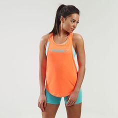 Gymshark Move Racerback Vest - Coral/Mint Green