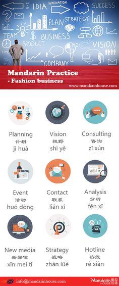 Fashion Business in Chinese.For more info please contact: bodi.li@mandarinhouse.cn The best Mandarin School in China.