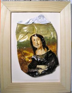 SALE Mona Lisa Crushed Can Art -soda Pop- art /via http://www.pinterest.com/sarracenie/mona-lisa/