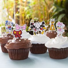 Mickey Mouse & Friends Cupcake Toppers - free printable
