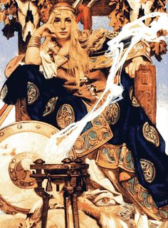 J.C. Leyendecker - Queen Maeve (1907). Hard as nails Iron Age Queen, no shit was taken!