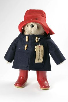 Paddington Bear: My Paddington Bear had a brown coat, blue hat and yellow wellington boots that I used to wear myself when I was really little!