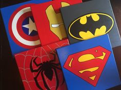 Set of 4 or more superhero canvases! Send me a message with the superheros that you prefer  The set can includes 4 or more 12x12 canvas, you can choose from : Batman, Superman, Spiderman, The Flash, Green Lantern, Green Arrow, Dead Pool, Hulk, Captain America, Iron man, Aquaman and