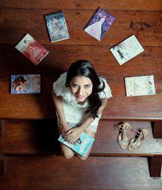 Ensaio debutante. Meiga. Book 15 anos. Moderna, Linda, Inspiração. Livros