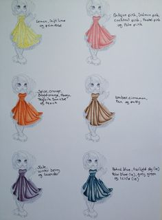Promarker dress colours
