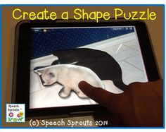 Free Apps for Speech Therapy- Create shape puzzles, work on language, etc with Tiny Tap using your own photos Speech Language Therapy, Speech Therapy Activities, Language Activities, Speech And Language, Speech Pathology, Toddler Activities, Educational Technology, Teaching Technology, Assistive Technology
