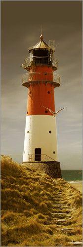 Poster Der Leuchtturm im Abendlicht - als Poster, Leinwanddruck, auf Forex, oder Dibond, bei Posterlounge!