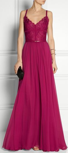 Dress prom pink bugambilia